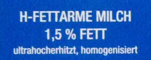 Haltbare fettarme Milch - Inhaltsstoffe