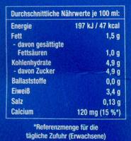Haltbare fettarme Milch - Nutrition facts - de