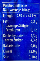 Speisequark Magerstufe - Nährwertangaben