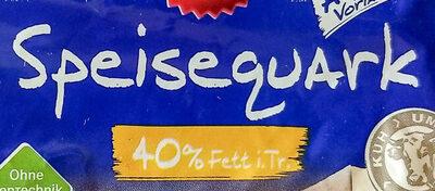 Speisequark 40% Fett i. Tr. - Ingredients - de