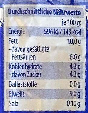 Speisequark 40% Fett i. Tr. - Nutrition facts - de