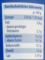 Joghurt Stracciatella - Nährwertangaben