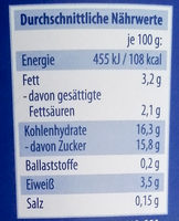 Fruchtjoghurt Pfirsich-Maracuja - Nährwertangaben