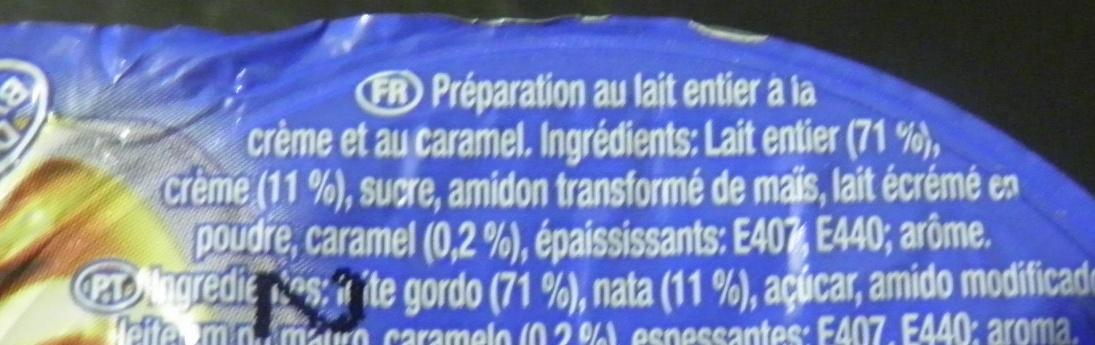 Dessert crème caramel - Ingrediënten