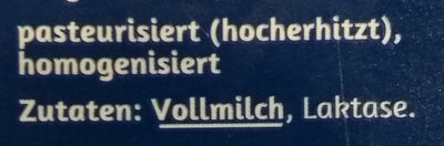Frische Laktosefreie Vollmilch - Zutaten - de