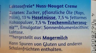 Minus L Nuss Nougat Creme - Ingrediënten