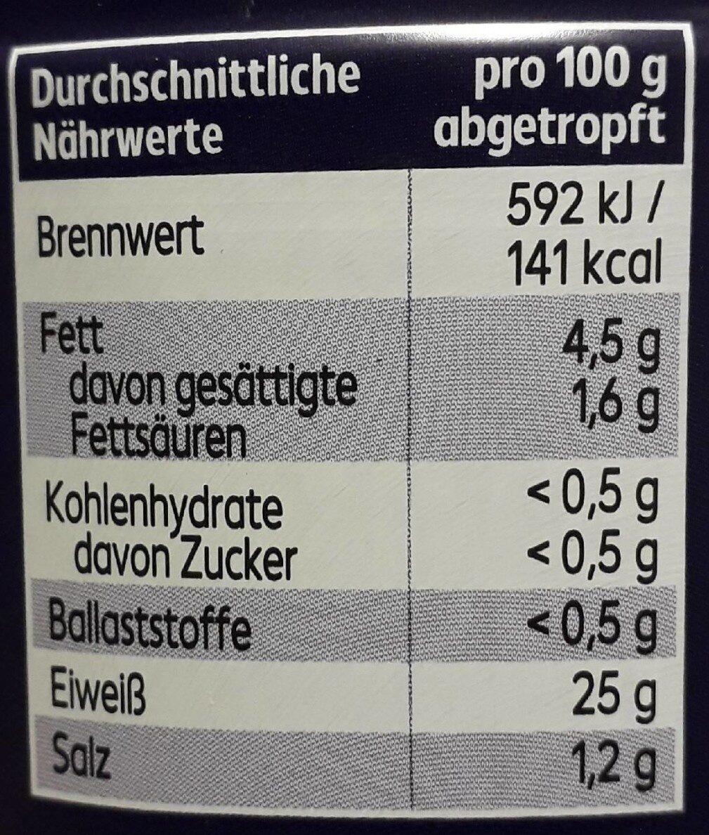 Weisser Thunfisch - Nährwertangaben - de