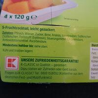 Fruchtcocktail - Ingrédients - de