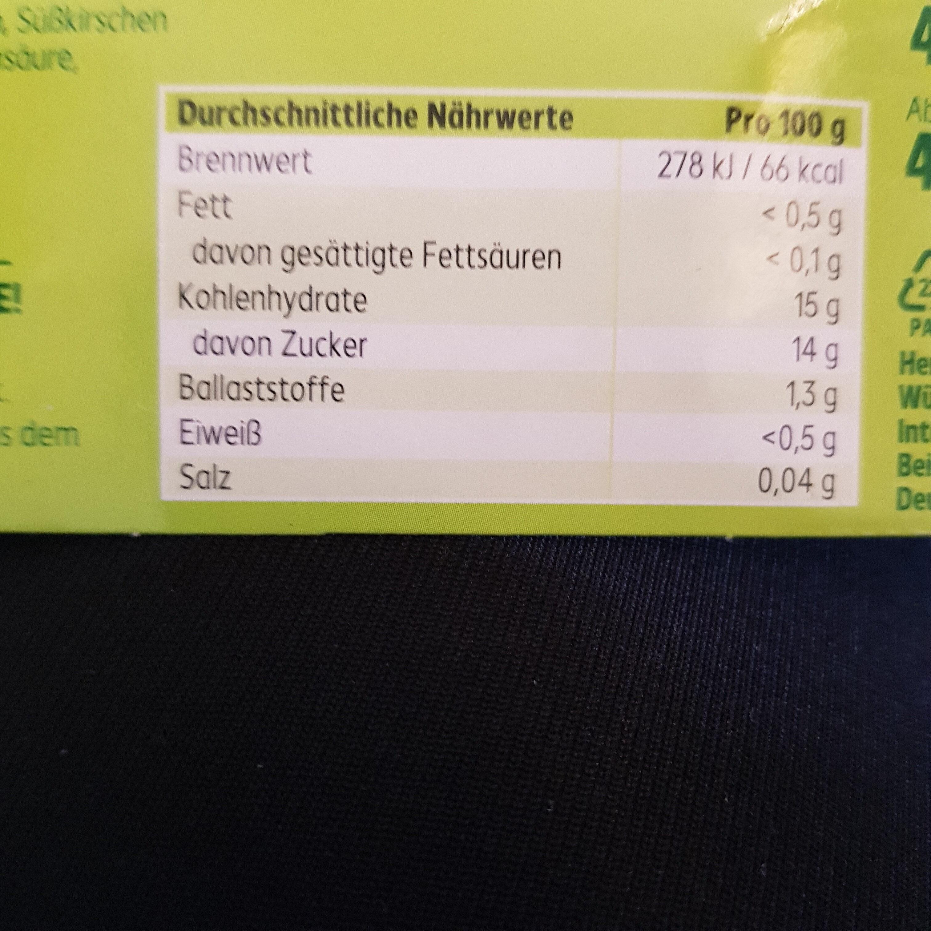 Fruchtcocktail - Informations nutritionnelles - de