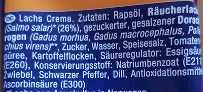 Lachs-Creme - Ingrédients - de