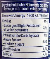 Lachs-Creme - Informations nutritionnelles - de