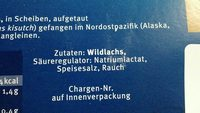 Wildlachs, Kodiak, Smoked - Inhaltsstoffe