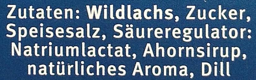 Kodiak Wildlachs Graved - Ingredients - de