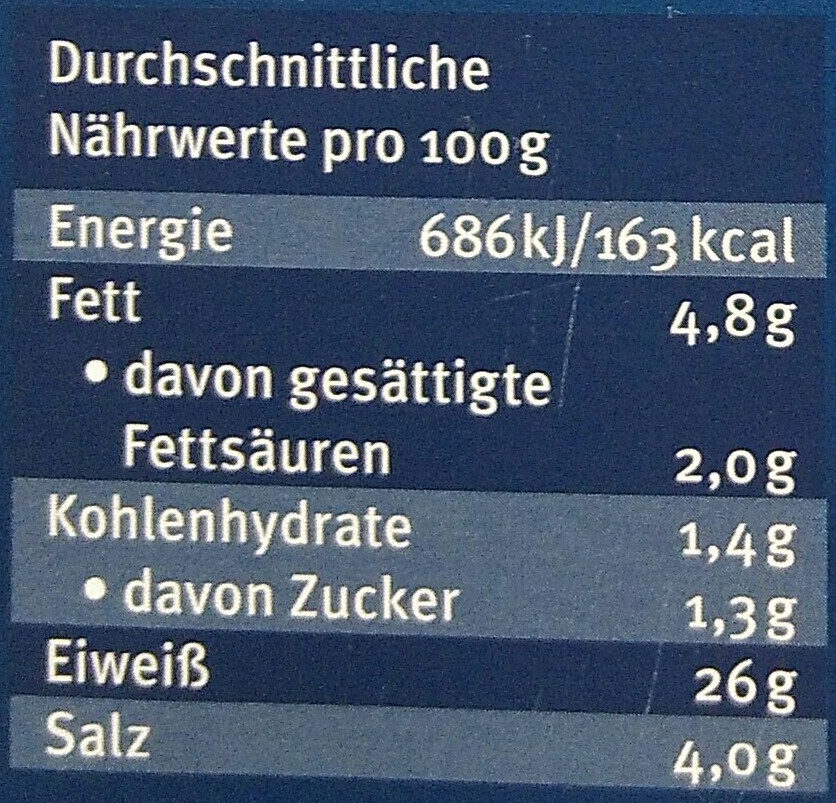 Kodiak Wildlachs Graved - Nutrition facts - de