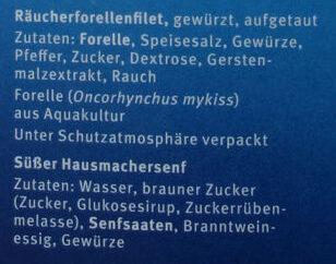 Biergarten Forelle - Ingredients