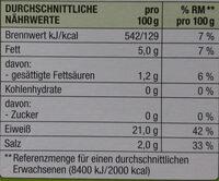 Bio Forellen Filets - Nutrition facts - de
