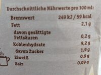 VeLike Hafer Drink - Nährwertangaben - de