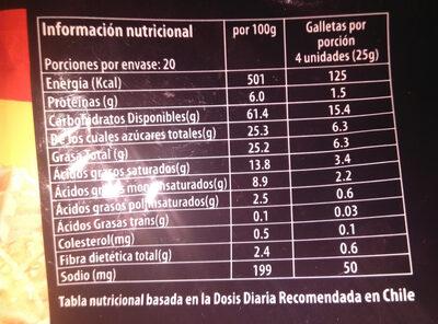 Grand Prix - Nutrition facts - es