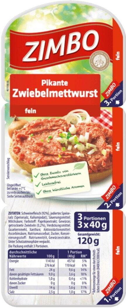 Pikante Zwiebelmettwurst - Produkt - de