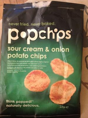 Sour cream & onion potato chips - Produit