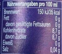 Paulaner Spezi - Informations nutritionnelles - fr