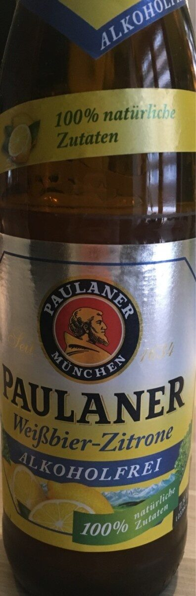 Paulaner Weißbier-zitrone Alkoholfrei - Produit - fr