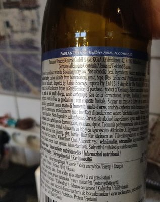 Hefe weissbier non alcoholic - Ingrédients - fr