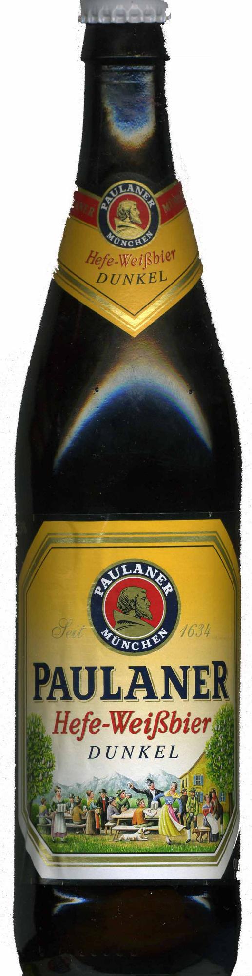 "Cerveza ""Paulaner"" Hefe-Weißbier Dunkel - Producte - es"