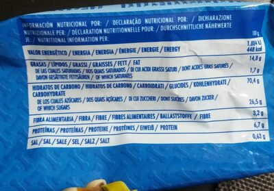Mini cookies - Informations nutritionnelles - fr