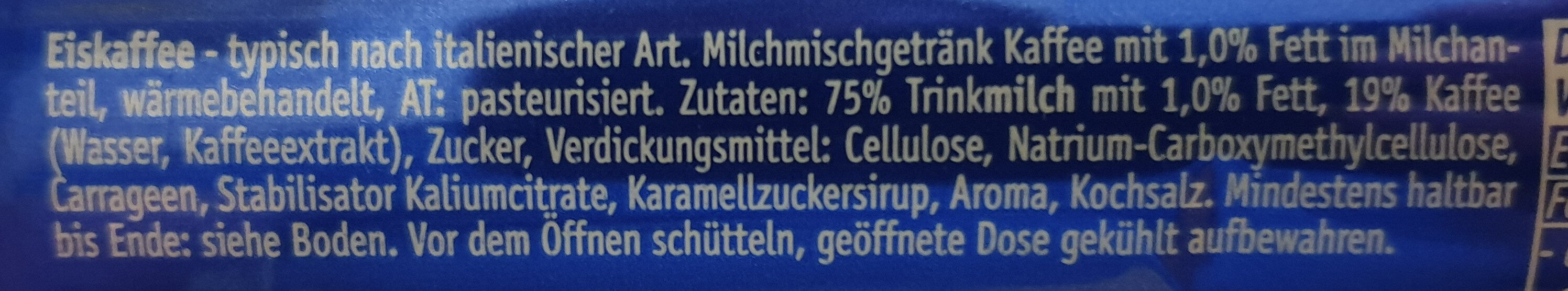 Eiskaffee - Ingredients - de