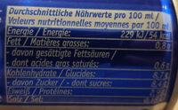 Eiskaffee - Nutrition facts - de
