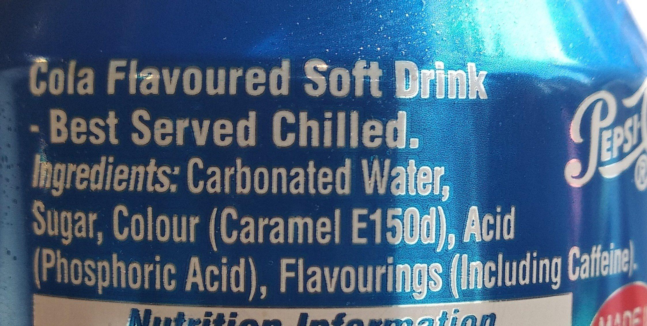 Pepsi - Ingredienti - en
