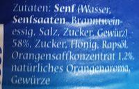 Orangen-Senf Sauce - Ingredients - de