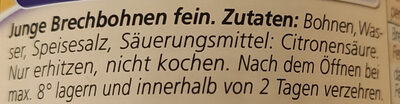 Brechbohnen - Ingrédients