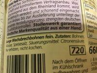 Wachsbrechbohnen - Ingrédients - de