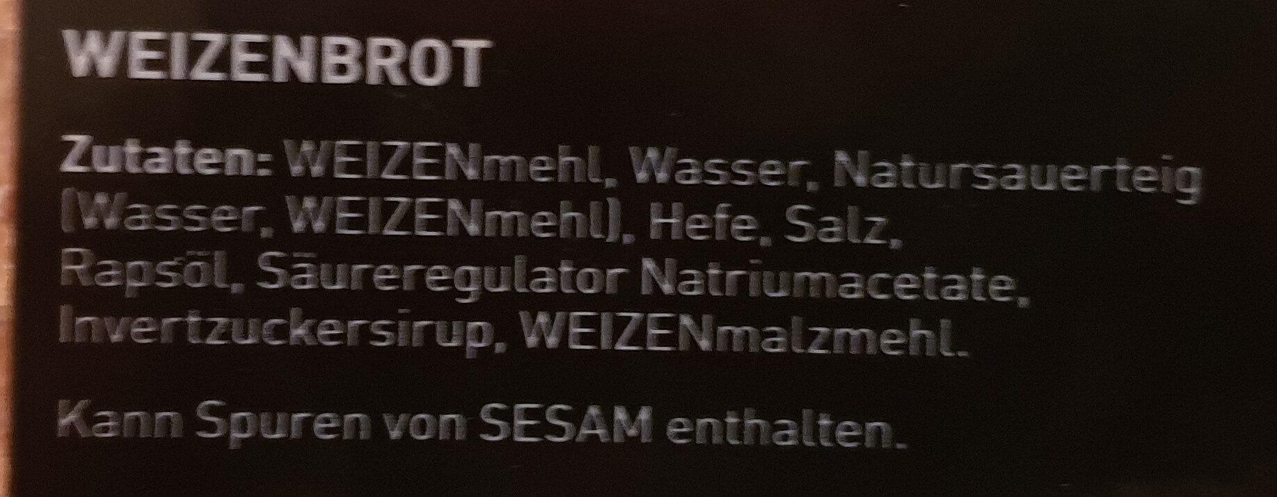 WEISSBROT - Ingredienti - de