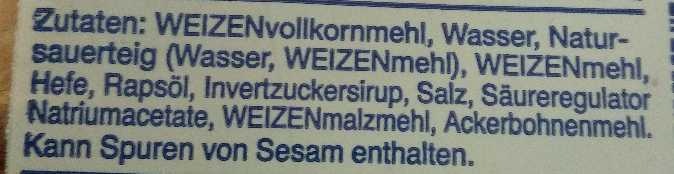 Vollkorn Sandwich - Ingredients