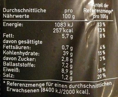 Weltmeister Mehrkorn - Nährwertangaben - de