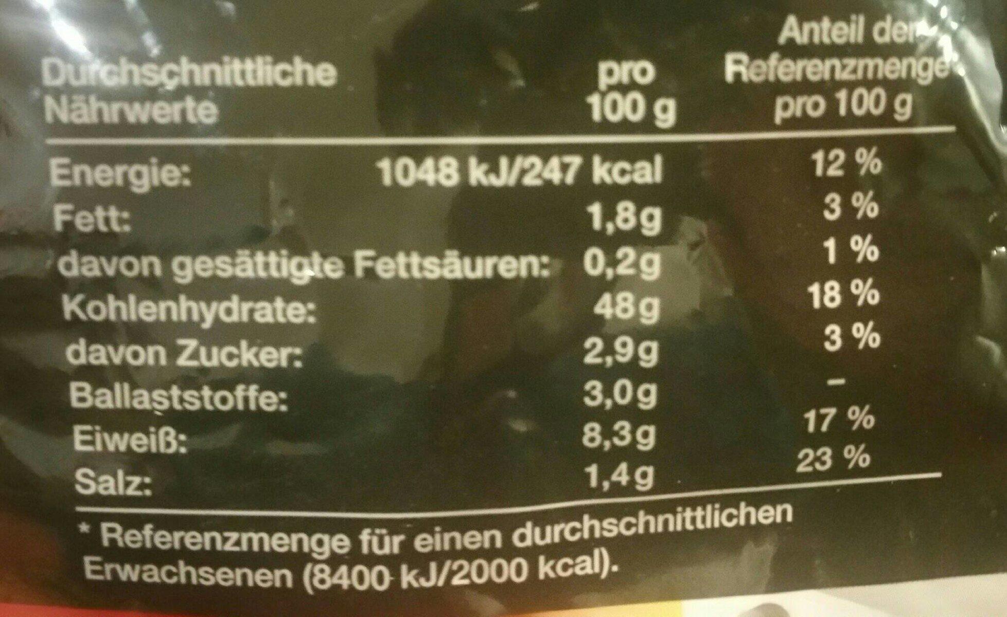 Weizenbrot - Nährwertangaben - de