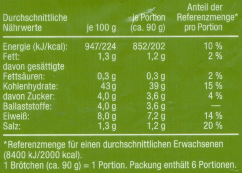 Kartoffel Kcal kartoffel roggen krüstchen harry 540g