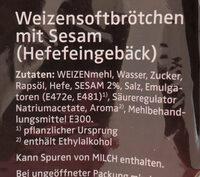 XXL Burger Brötchen - Ingredienti - de