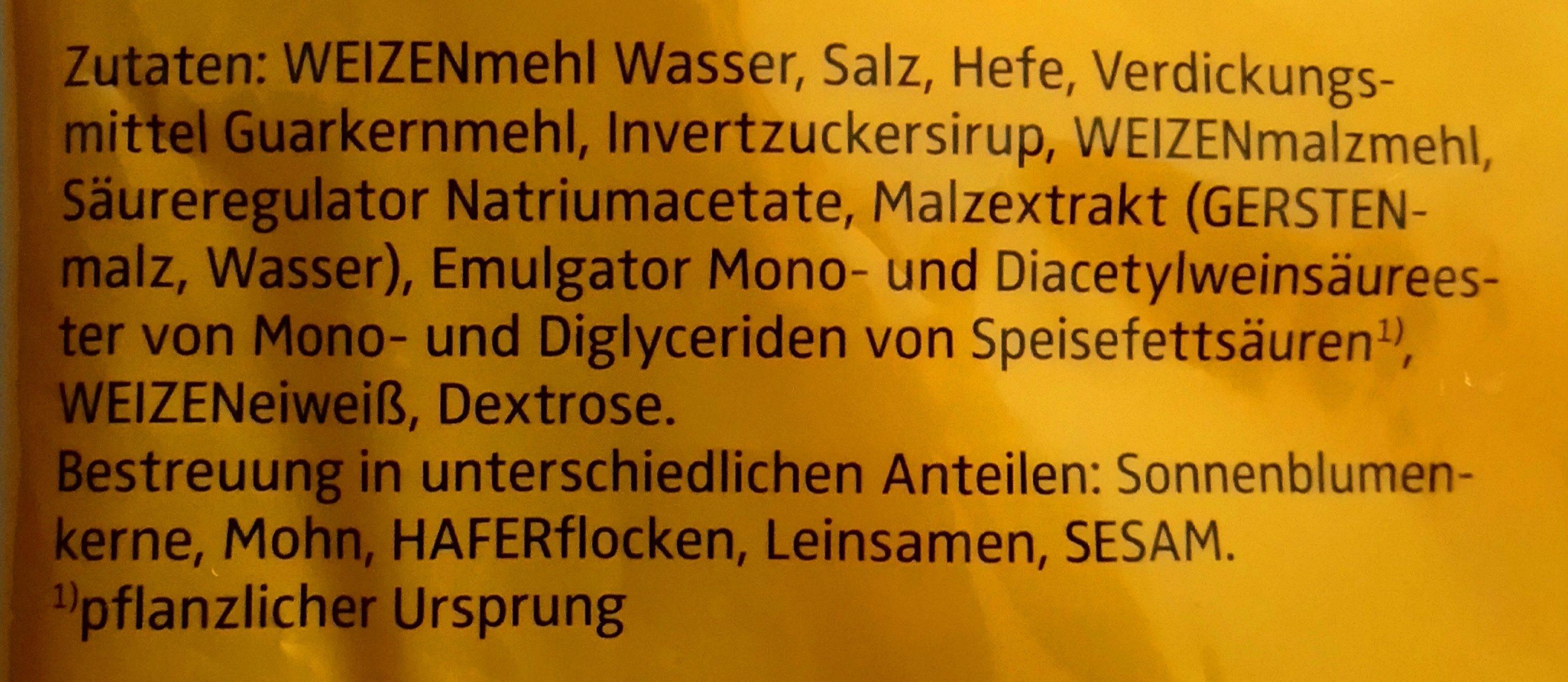 Gemischte Brötchen - Ingrediënten - de