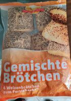 Gemischte Brötchen 6 Weizen zum Fertigbacken - Produkt - de