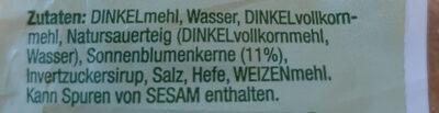 Dinkel - Ingredientes - de