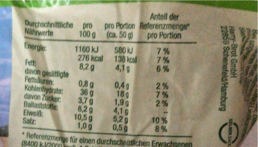 Dinkel - Información nutricional - de