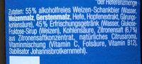 Franziskaner Weißbier alkoholfrei Zitrone - Ingredients