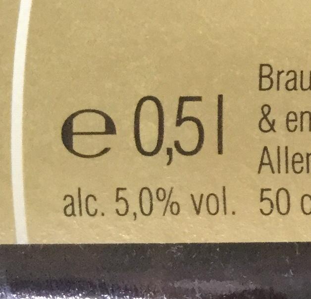 Franziskaner Hefe Weissbier 500ml - Informazioni nutrizionali