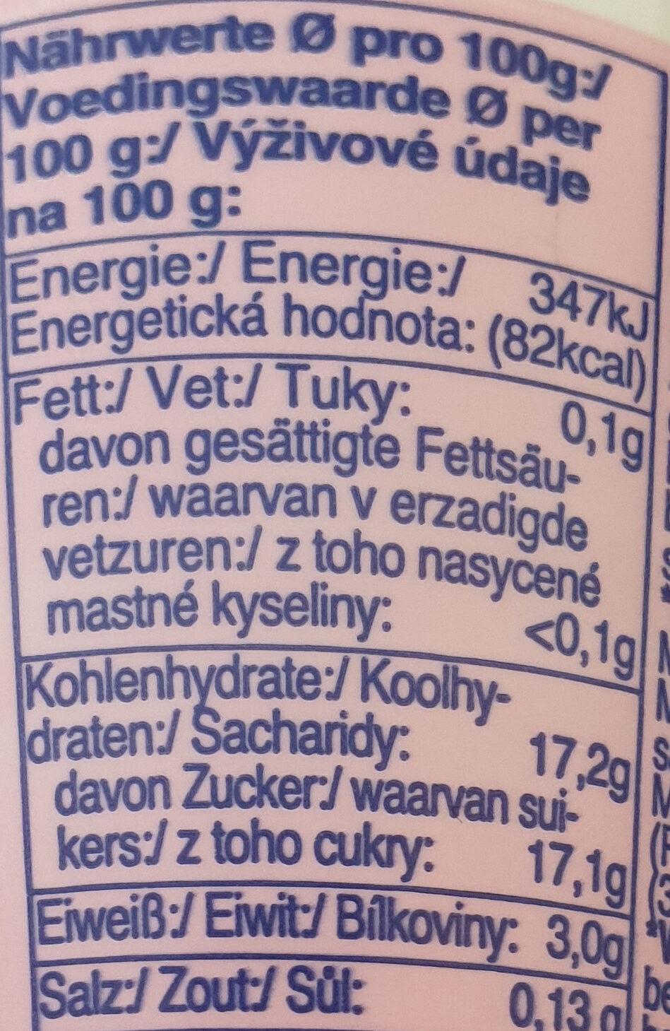 Fit Waldfrucht - Informations nutritionnelles - de