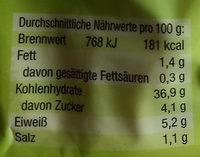 Kartoffel-Schupfnudeln - Nährwertangaben