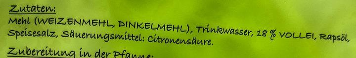 Schwäbische Eierspätzle - Ingredients - de